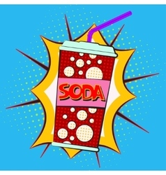 Paper cup for soda vector image