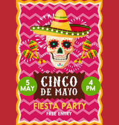 poster for cinco party vector image