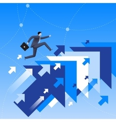Running up to success business concept vector image vector image
