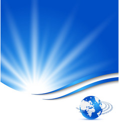 Abstract blue card with Earth planet vector image