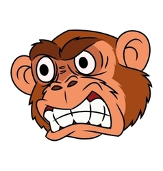 Angry monkey head 2 vector