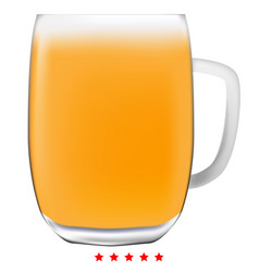 beer mug icon color fill style vector image