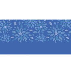 Blue textile peony flowers horizontal seamless vector image