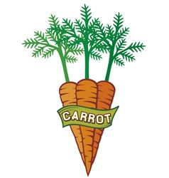 carrot label vector image vector image