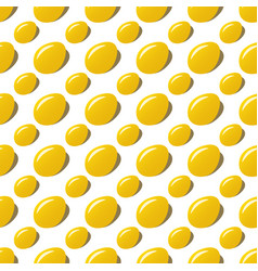 Easter golden eggs seamless pattern background vector