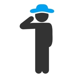 Male Salute Icon vector image