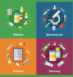 medical set with pharmaceutical vector image vector image