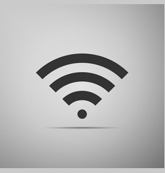 wi-fi network symbol flat icon on grey background vector image vector image