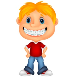 Young children cartoon smiling vector image vector image