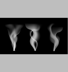 digital white smoke on transparent vector image