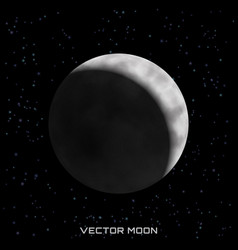 moon on cosmic background with stars vector image