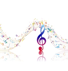 Musical background with clef vector image