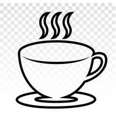 A cup hot cafe coffee or caffeine drink flat vector
