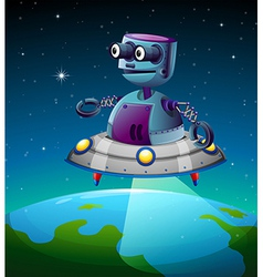 A robot above the earth vector