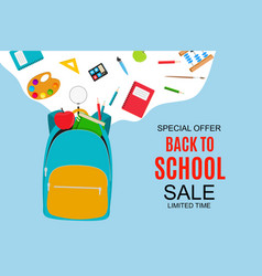 abstract back to school sale background vector image