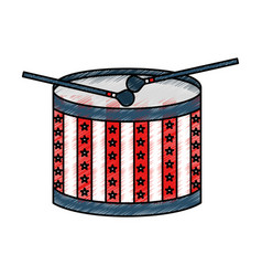 american drum isolated icon vector image
