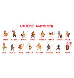 ancient warriors set vector image