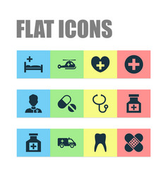 Antibiotic icons set collection of healer dental vector