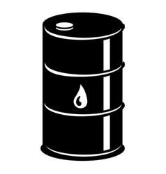barrel oil icon simple black style vector image