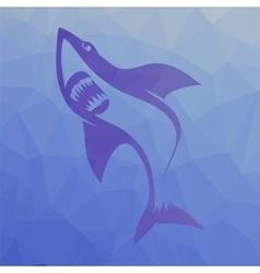Big shark symbol vector