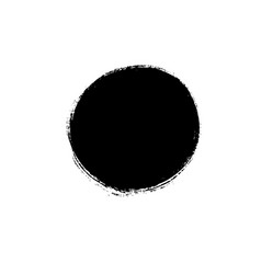 black paint circle hand painted ink blob vector image