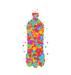 bottle icon set dot color vector image
