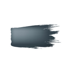 brush stroke of black paint on white background vector image