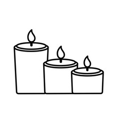 burning candles decoration vector image
