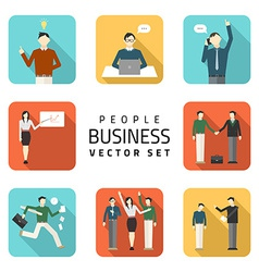 Business peoples flat purchasing work con vector