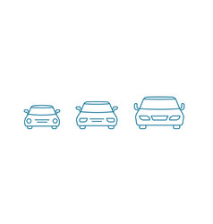 Car size small medium and large transfer vector