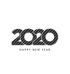 carbon texture design 2020 happy new year vector image