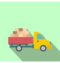 Cargo transportation by car vector