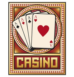 casino label design - four aces vector image