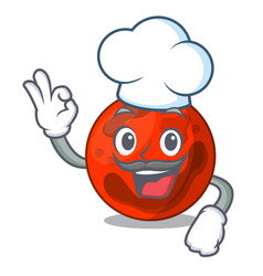Chef mars planet character cartoon vector