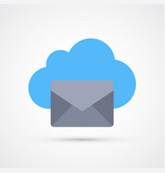 cloud mail trendy symbol trendy colored vector image
