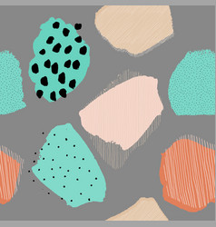 collage contemporary abstract berries seamless vector image