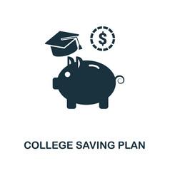College saving plan icon line style icon design vector