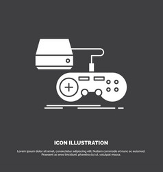 Console game gaming playstation play icon glyph vector