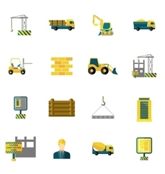 Construction Icons Flat vector image