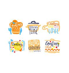 Cooking logo and labels design set vector