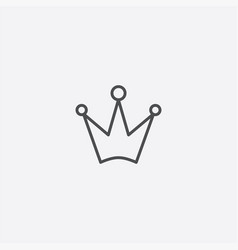crown outline icon vector image
