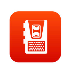 dictaphone icon digital red vector image
