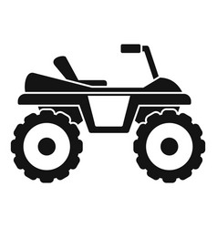 Dirtbike icon simple style vector