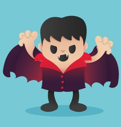 Dracula Cartoon in Halloween vector