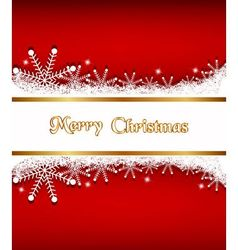 Elegant Christmas background with banner vector image