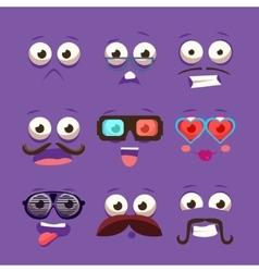 Facial Design Elements Set vector