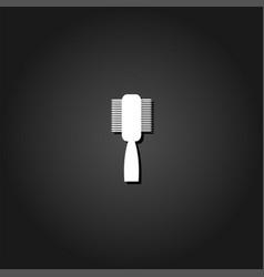 Fashion comb icon flat vector