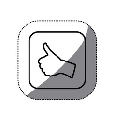 figure symbol goodhand icon vector image