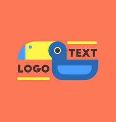 flat icon on background bird logo vector image