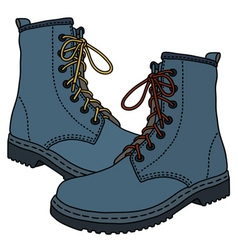 Funny blue boots vector